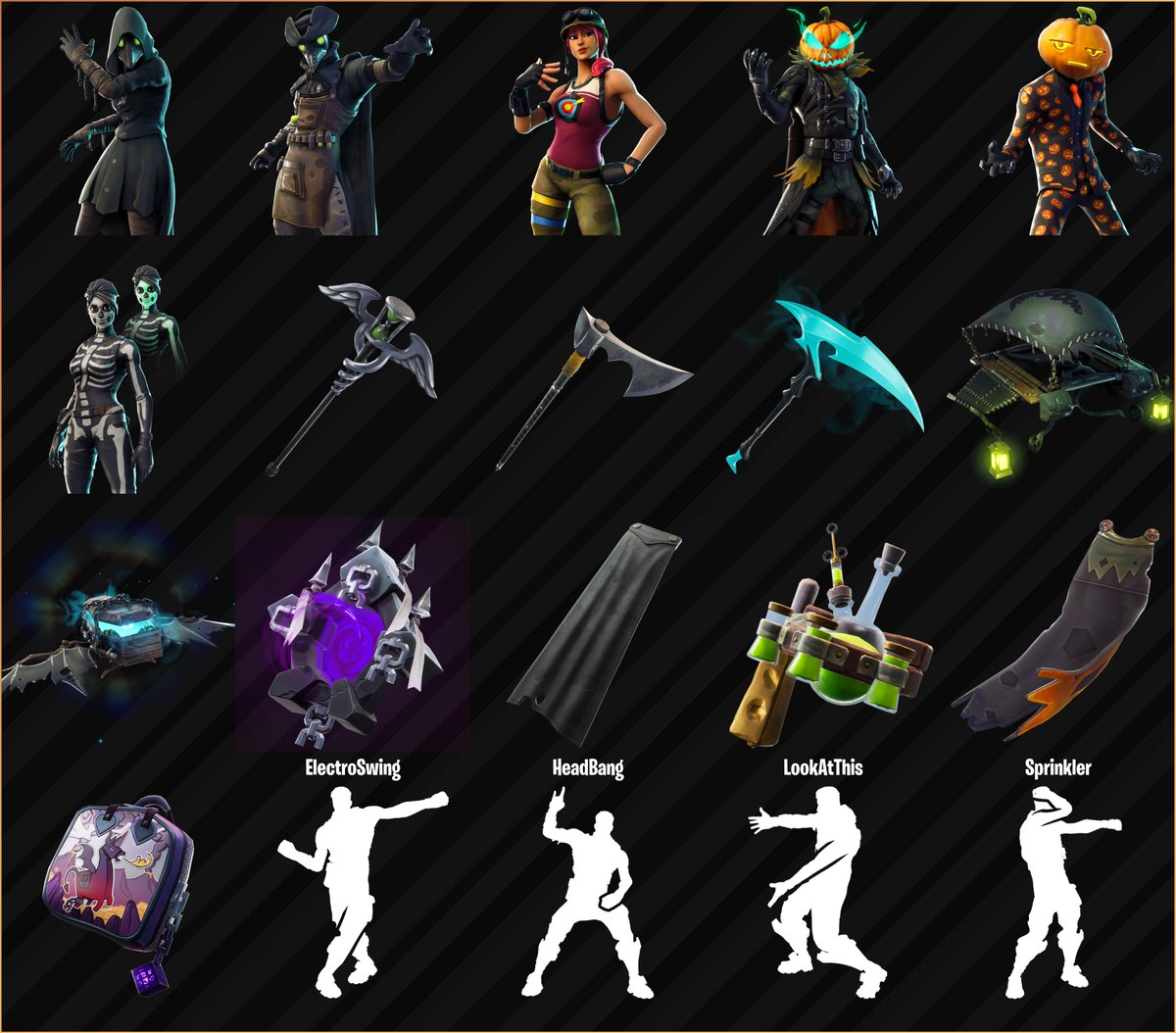 Fortnite Halloween Skins Cosmetics And Emotes Leaked For V6