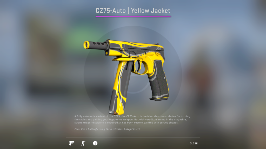 CZ75 Yellow Jacket