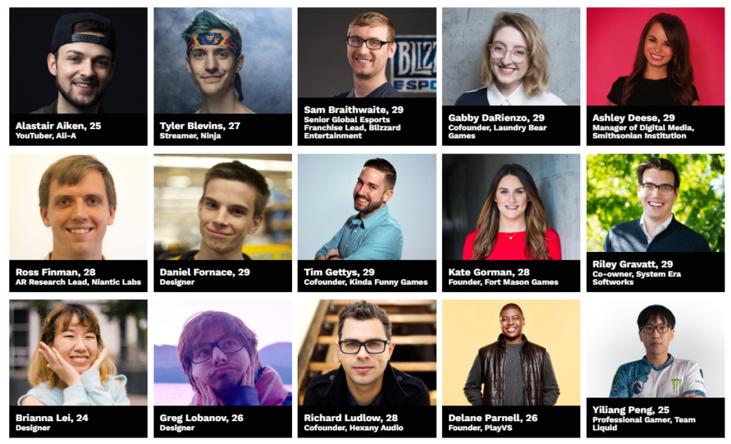 Forbes 30 Under 30 Gaming ft Ninja, Stewie2k, Mew2king, Doublelift, Ali-A