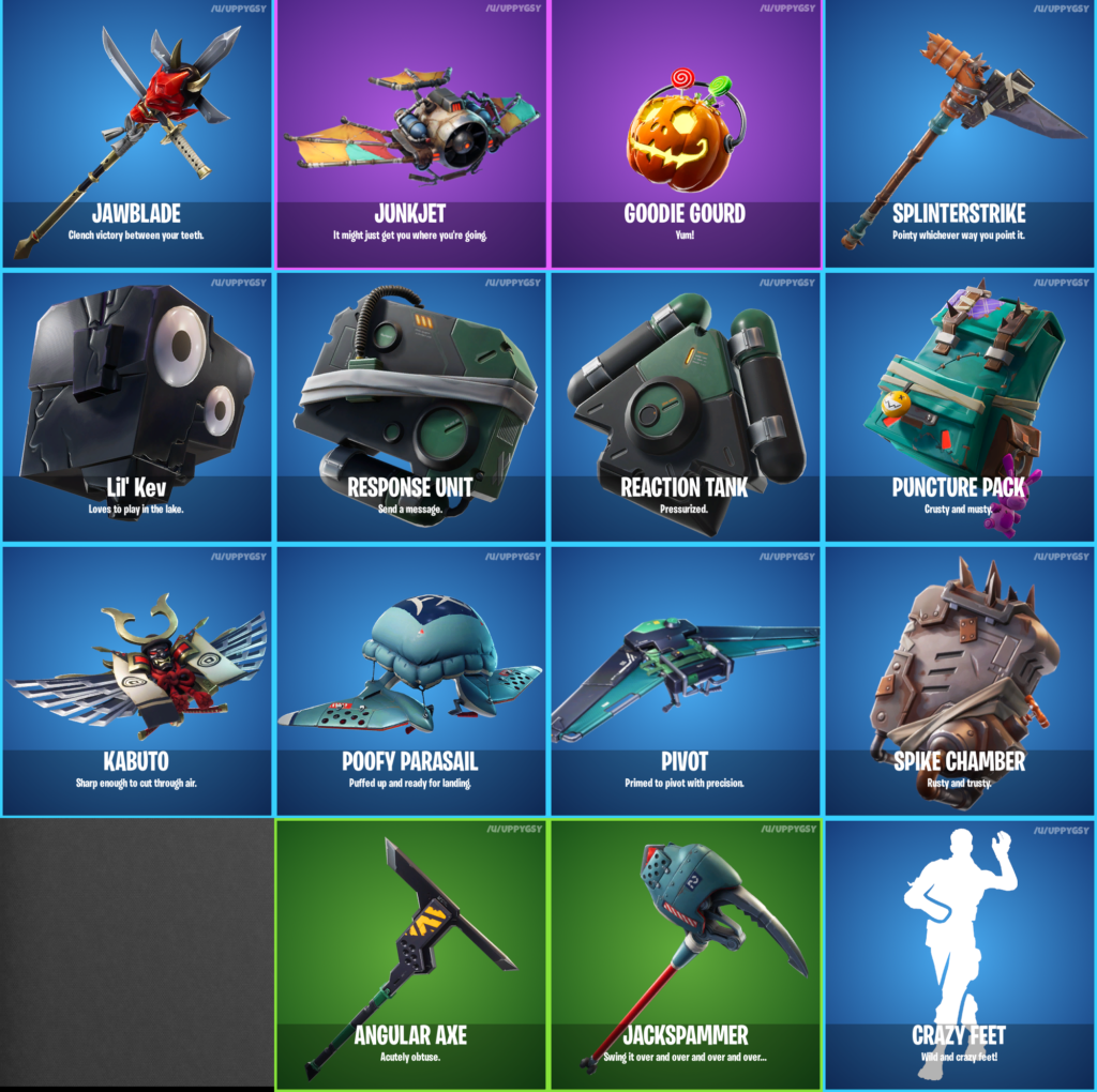 Fortnite 6.21 Cosmetics Leak