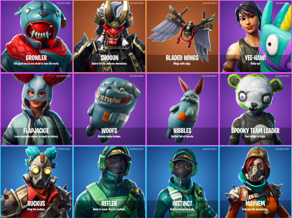 Fortnite 6.21 Skins Leak