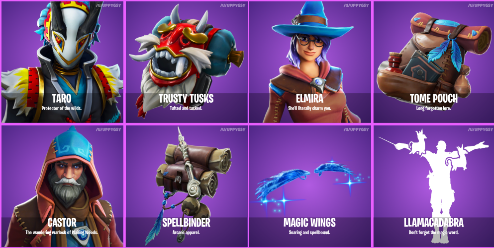 Fortnite 6.30 Leaked Skins and Cosmetics - Wizard and Witch Skins