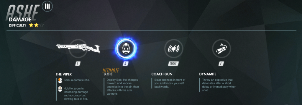 Overwatch Ashe Abilities