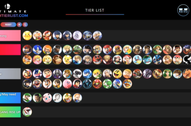 Super Smash Bros Ultimate Tier List Maker by Nairo