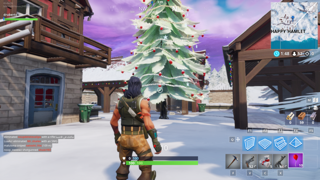 Fortnite Happy Hamlet Christmas Lights