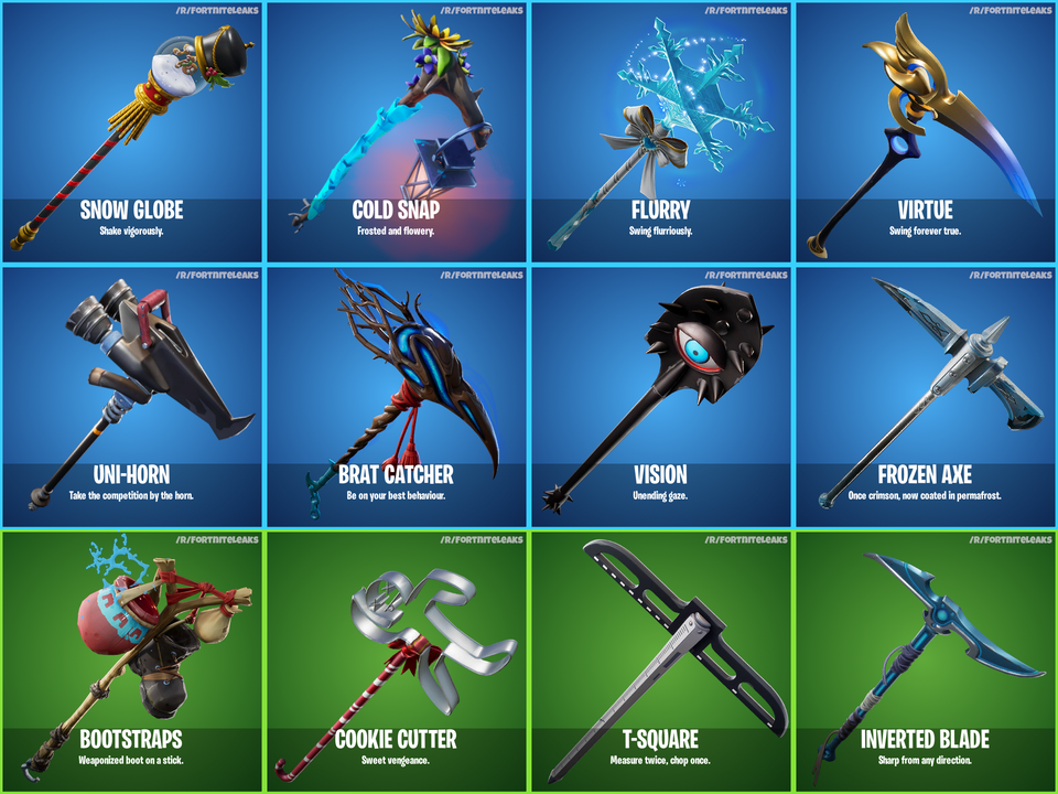 How To Get Permafrost Pickaxe Fortnite Fortnite S7 Leaks New Winter Skins Gliders Pickaxes Wraps For 7 10 Elecspo