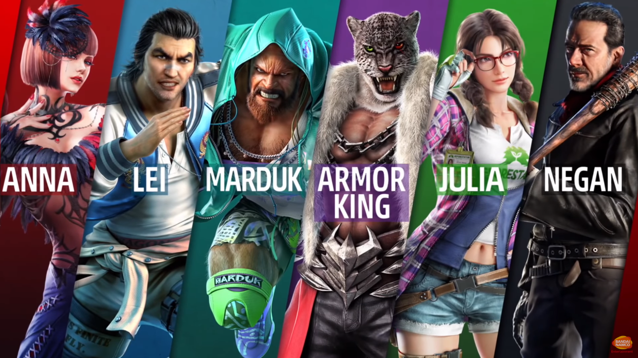 Tekken 7 DLC - Negan, Armor King, Marduk Gameplay Trailers - Elecspo