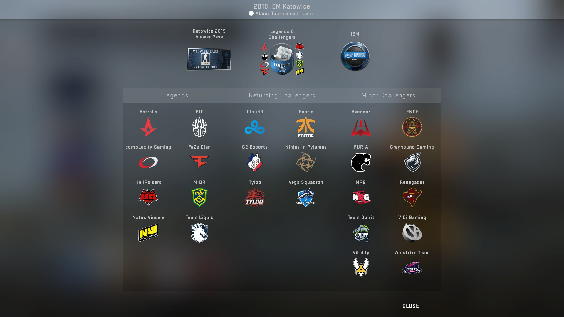 IEM Katowice 2019 CS:GO Major Stickers & Pick'Em Challenge