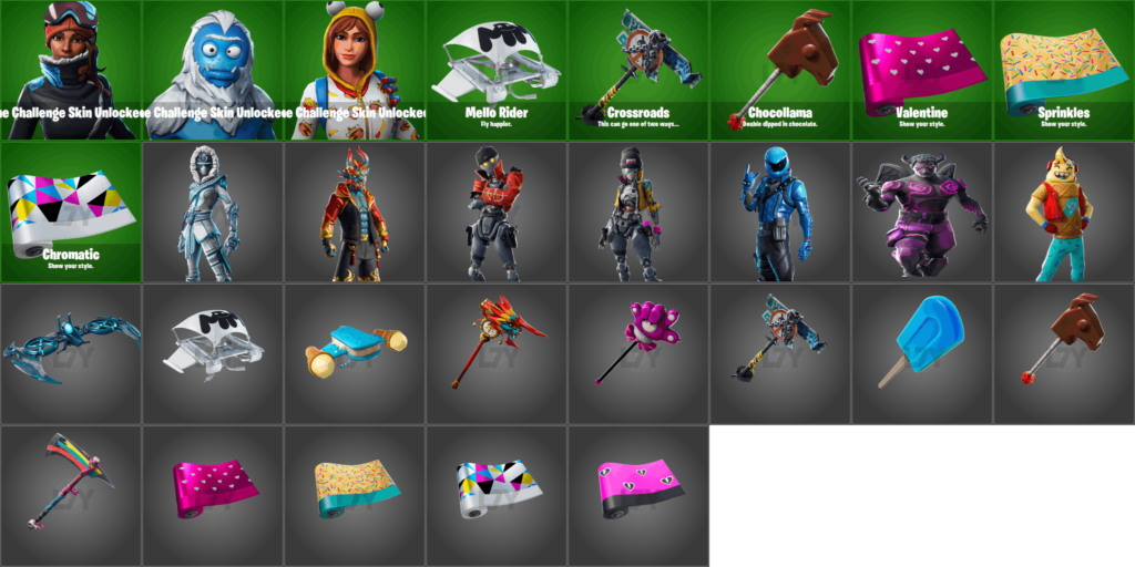 Fortnite 7.40 Skins and Cosmetics