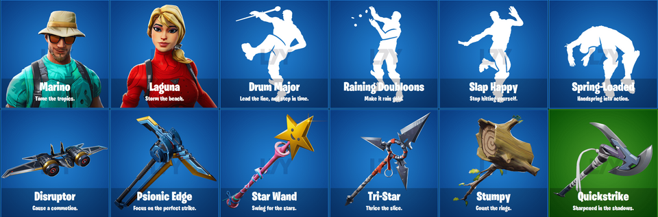 Fortnite 8.10 leaked skins and cosmetics