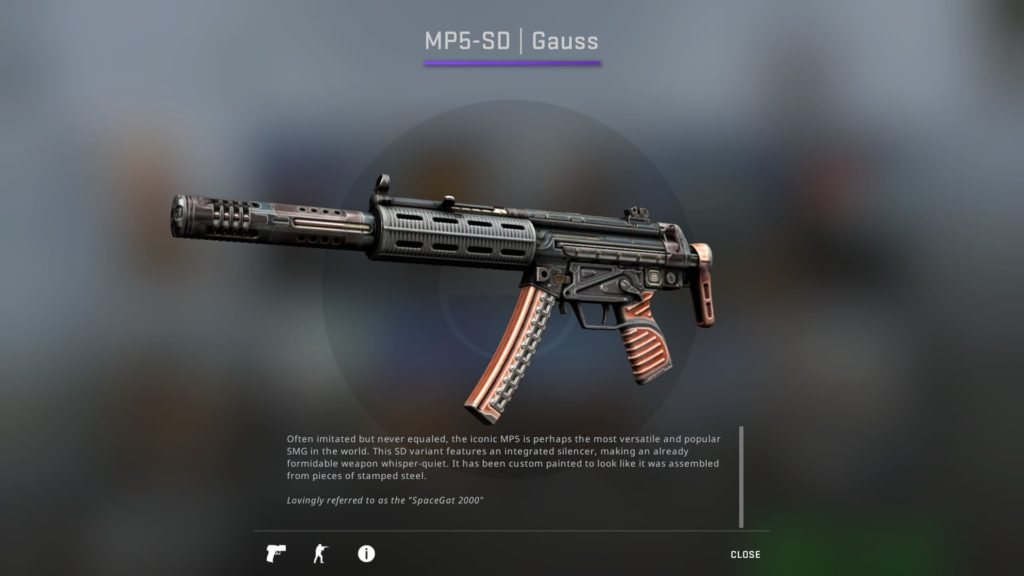 CS:GO MP5-SD Gauss